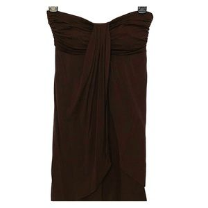 Tops - Strapless brown tube top